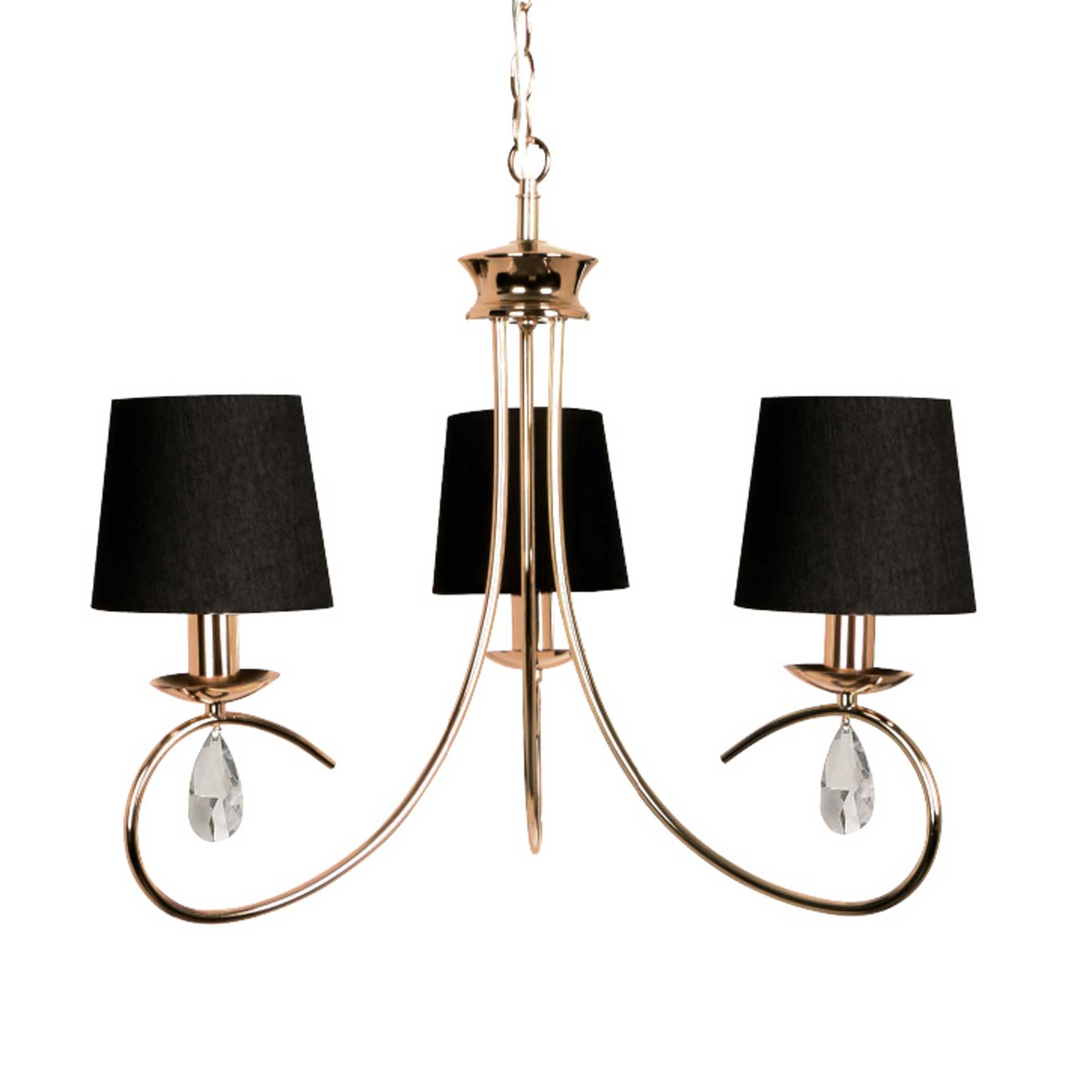 Hanging Metal Lamp With A Satin Cloth And Crystal Pvc Cable